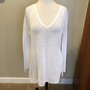 Eileen Fisher Airy Light White Cotton Sweater S